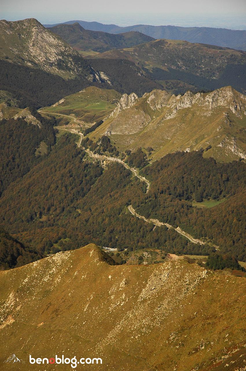 La route du col d'Agnès