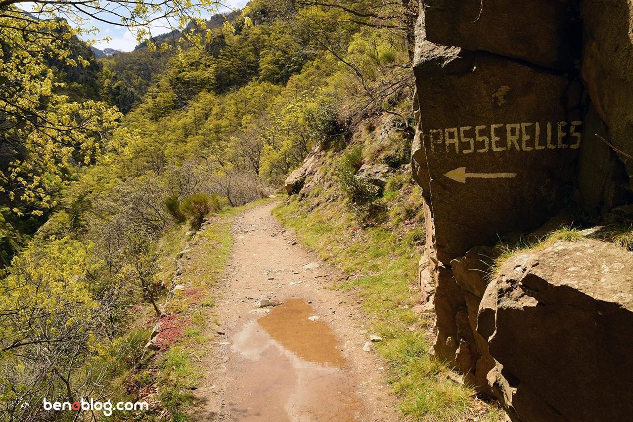 Chemin d'accès gorges de la Carança