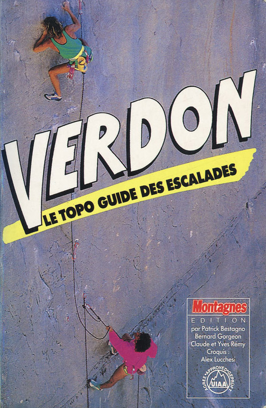 Topo escalade Verdon 1988